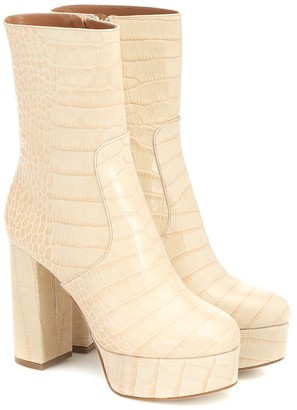Paris Texas Exclusive to Mytheresa Cocco croc-effect leather ankle boots