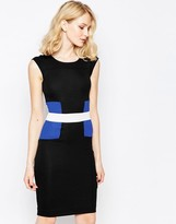 French Connection Color Block Manhattan Shift Dress