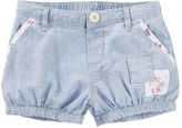 Osh Kosh Hickory-Striped Patchwork Bubble Shorts
