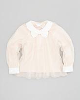Chloé Organza Blouse, Pink, Sizes 6-10