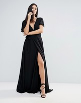 The Jetset Diaries Lorenzo Deep V Neck Maxi Dress