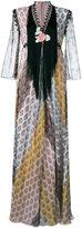Giamba floral fringed maxi dress - women - Silk/Polyester/Acetate/Viscose - 40