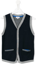 Boss Kids - ribbed trim waistcoat - kids - Cotton - 14 yrs