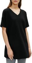 Eileen Fisher Short Sleeve Organic Stretch Cotton Tunic Top