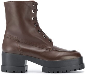 Clergerie Lace-Up Track Sole Boots