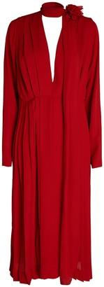 Victoria Beckham Scarf Neck Crepe Dress