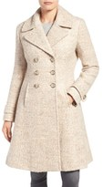 Ivanka Trump Double Breasted Fit & Flare Coat
