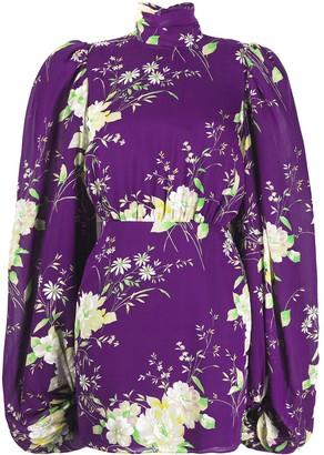 ATTICO Floral-Print Mini Dress
