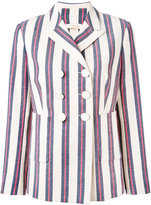 Tory Burch double-breasted blazer - women - Cotton/Polyester/Spandex/Elastane - 2