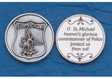 FindingKing 25 St. Michael Policeman's Prayer Coins