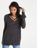 American Eagle Outfitters AE Strappy V-Neck Sweater