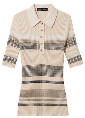 Proenza Schouler Zip Zag Polo Shirt