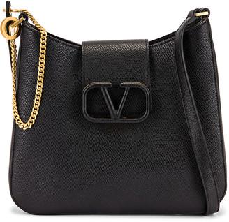 Valentino Small VSling Hobo Bag in Black | FWRD