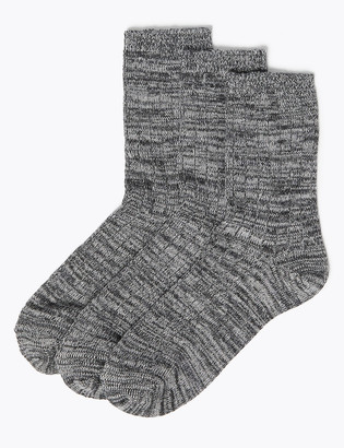 Marks and Spencer 3 Pack Thermal Sumptuously Soft Ankle High Socks