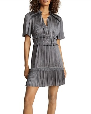 Reiss Lydia Pleated Tiered Dress