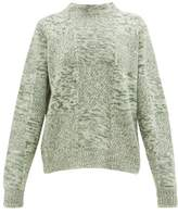 Jil Sander Melange Cashmere Sweater - Womens - Green Multi