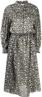 Etoile Isabel Marant Draped All-Over Floral Print Dress