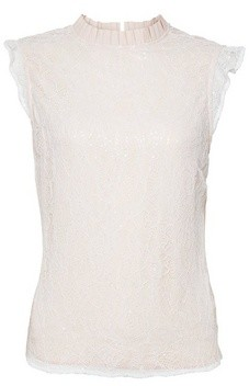 Dorothy Perkins Womens Luxe Ivory Lace Sequin Top, Ivory