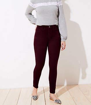 LOFT High Waist Corduroy Skinny Pants in Curvy Fit