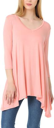 Blush B-Lush Shamaim Women's Tunics Blush - Blush Scoop Neck Sidetail Tunic - Women