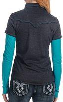 Panhandle Slim Layered-Look Shirt - Long Sleeve (For Women)