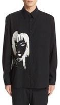 Yohji Yamamoto Men's Embellished Wool Shirt