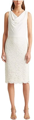 Lauren Ralph Lauren Aditianna Dress (Matte Ivory) Women's Dress