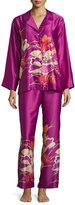 Natori Imperial Floral-Embroidery Pajama Set, Purple Haze