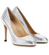 Charlotte Olympia Jenny woven-effect leather pumps