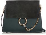 Chloé Faye medium suede and leather shoulder bag