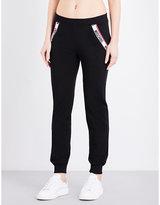 Moschino Logo-trim Cotton-jersey Jogging Bottoms