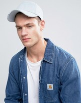 Asos Baseball Cap In Distressed Denim
