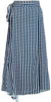 Preen by Thornton Bregazzi checked wrap skirt