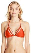 Luli Fama Women's Kiss The Wave Strings To Braid Triangle Bikini Top