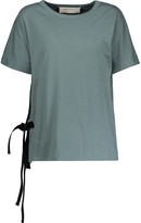 Marni Tied cotton-jersey T-shirt