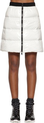 Moncler Nylon Laque Down Skirt