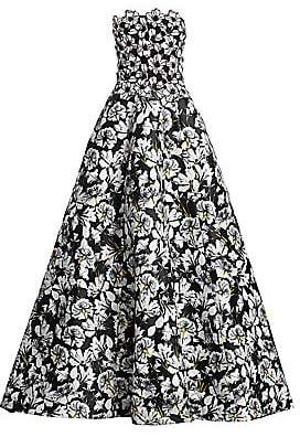 Monique Lhuillier Women's Strapless Mixed Floral Ball Gown