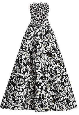 Monique Lhuillier Women's Strapless Mixed Floral Ball Gown