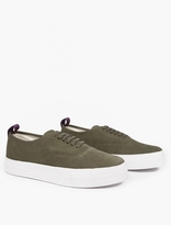 Eytys Army Green Suede 'Mother' Sneakers