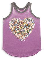 Chaser Toddler's, Little Girl's & Girl's Heart Blocked Jersey Tank Top