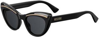 Moschino Cutout Cat-Eye Acetate Sunglasses