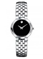 Movado Classic Faceto Sapphire Crystal Stainless-steel Women's Watch