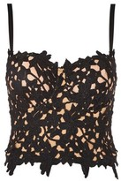 **Lily Black Floral Lace Bustier Top by WYLDR