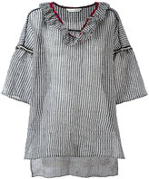 Tsumori Chisato check tunic top - women - Cotton/Linen/Flax/Nylon/Polyester - S