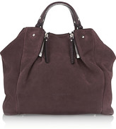 Burberry Shoes & Accessories Suede and textured-leather tote