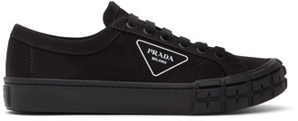 Prada Black Gabardine Sneakers