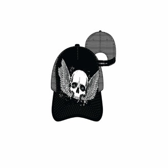 Concept One Mens Abstract Skull MESH Back Uncle Cap