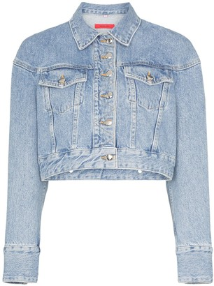 Eckhaus Latta Cropped Denim Jacket