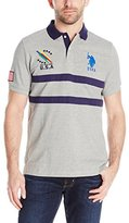 U.S. Polo Assn. Men's Chest Striped Pique Polo Shirt