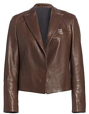 Brunello Cucinelli Women's Cropped Leather Jacket